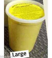 L: Yellow Organic Raw Unrefined Whipped Africa Shea Butter (Creamy Soft)