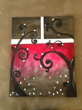 "Modern 100% hand-painted Art  Acrylic Painting 16""x 20"" wall decor signed artist"
