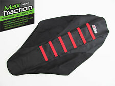 HONDA CRF450 CRF450R 2002 2003 2004 RIBBED SEAT COVER BLACK WITH RED STRIPES MX