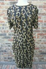 Heavyweight stenay sequin vintage dress excellent condition size M mint