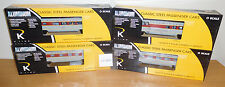 "K-LINE K-4638B LACKAWANNA ALUMINUM 15"" PASSENGER TRAIN 4 CAR SET O SCALE LIONEL"