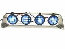 Apex RC Products Rock Crawler Stainless Steel Roll Bar W/ 4 LED Lights #9001