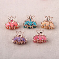 5pcs little eight claw Crystal alloy Rhinestone Hair Clip Jaw Hairpin Korean
