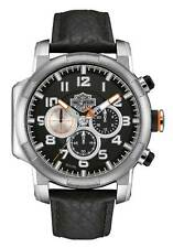 Harley-Davidson Mens Chronograph Motorcycle Piston Watch, Stainless Steel 76B172