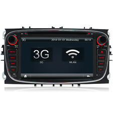 Ford Focus/Mondeo/S-Max/Galaxy 2 DIN DVD Player GPS Sat Nav Stereo Radio Black