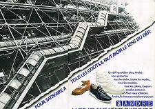 PUBLICITE ADVERTISING 034   1980   ANDRE   chaussures baskets   (2 pages)