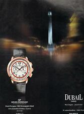 ▬► PUBLICITE ADVERTISING AD Montre Watch GIRARD-PERREGAUX Dubail horlogerie