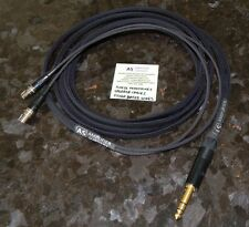 "10FT AUDEZE LCD-2 LCD-3 LCD-4 LCD-X Silver Plated upgrade cable 1/4"" Made USA"