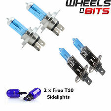 2x H4 & H1 55w HALOGEN HID XENON GAS FILLED BULBS upto 50% BRIGHTER SUPER WHITE