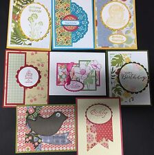 "8 Handmade ""BIRTHDAY FOR HER ""Cards with envelope!.Stampin +"