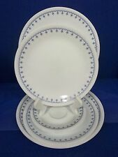 Corelle Snowflake Blue Garland Dinner Lunch Plates Saucers 9 pc Corning Ware