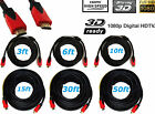 PREMIUM HDMI CABLE 50FT For BLURAY 3D DVD PS3 HDTV XBOX LCD HD 1080P Red&BLack