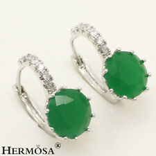 65% Off NATURAL Fancy Green Emerald 925 Sterling Silver HOT Earrings