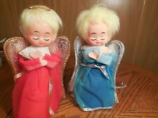Two Vintage Cardboard Angel Tree Toppers/ Decorations