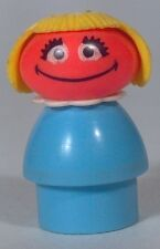 Vintage Fisher Price Little People Sesame Street Prairie Dawn Figure- Excellent!