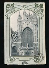 Somerset BATH Cathedral pull down m/view used 1905 PPC