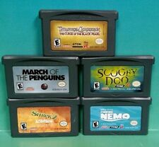 Scooby Doo March Penguins Pirates Shrek Nemo - Nintendo Game Boy Advance Disney
