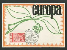 FRANCE MK 1965 EUROPA CEPT STRASBURG JOURNEE MAXIMUMKARTE MAXIMUM CARD MC d5309