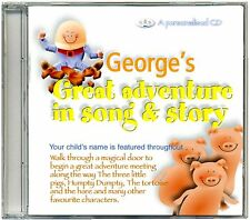My Great Adventure in Song & Story.  Personalised Children's Kids CD  ANY NAME