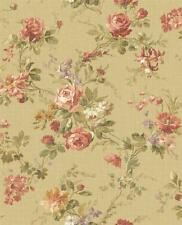Wallpaper Designer French Country Cottage Floral Roses and Wisteria