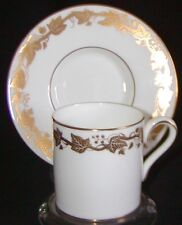 Wedgwood Bone China Demitasse Cup & Saucer - Whitehall Gold W4001