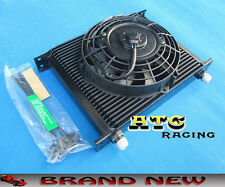 "UNIVERSAL 30 ROW OIL COOLER 7"" ELECTRIC FAN FOR JAPAN TUNING CARS"