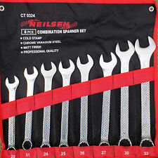 Neilsen Big Combination Spanner Set Wrench 20,21,24,25,26,27,30 & 32mm Metric 9d