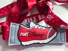 runDisney 2016 Every Mile is Magic Red Mickey Mouse Pin Lanyard