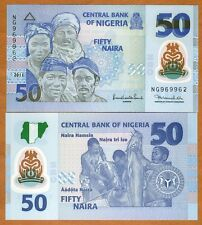 Nigeria, 50 naira, 2011, Pick 40b,  POLYMER, UNC