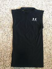 UNDER ARMOUR Compression  Men's Sleeveless Shirt Small Black Tank Top Kd6