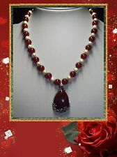 RED CARNELIAN HANDMADE UNIQUE ONE OF A KIND NECKLACE JEWELLERY @ JAY WOLFE