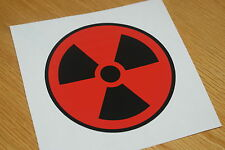 Nuclear/Radiation Sticker - Red/Black