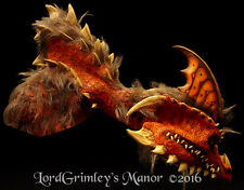 NEW 2016 Mario Chiodo Ember Red Dragon Deluxe Oversized Halloween Mask & Arm Set