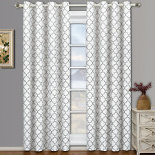 Meridian Room Darkening Grommet Top Window Curtain Drapes Thermal Insulated Pair