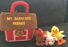 AURORA MY BARNYARD FRIENDS Baby Toddler Plush Toy w/Carry Case & 3 Animals