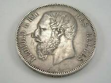 1870 BELGIUM  LEOPOLD II 5 FRANC SILVER COIN
