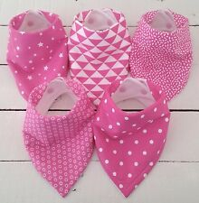 Bandana Dribble Bib Bundle x 5 �� Pretty Pinks �� Lovely - Bilibib