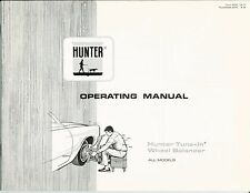 "OPERATING MANUAL Hunter ""Tune-In"" Wheel Balancer"