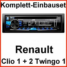 Complet-set renault Clio 1 2 twingo 1 JVC kd-r862bt autoradio usb Bluetooth CD