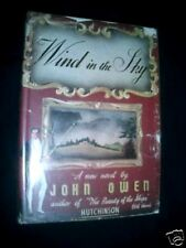 SIGNED! Wind In The Sky-John Owen-HB/DJ-c1943-1st Ed Wartime Era Novel