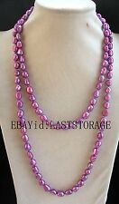 "freshwater pearl deep purple 9-10mm baroque necklace 43"" nature wholesale beads"