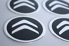 NEW 4pcs Decal Alu Stickers for Wheel Centre Cap Hubs for CITROEN - 60mm