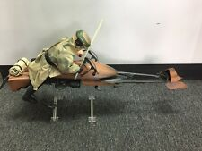 "1999 Hasbro Star Wars POTF 12"" 1/6 Speeder Bike w/ Luke Endor, 24"" Long"