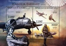 AMELIA EARHART & LOCKHEED ELECTRA Model 10E Aircraft Stamp Sheet (2012 Burundi)