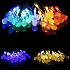 LED Solar Water Drop String Light For Christmas Party Garden Tree Decorative LA