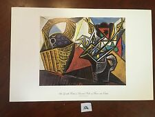 Still Life with basket of Fruit and Pitcher of FlowersPablo Picasso Repro Print
