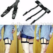 Pair Men Elastic Garter Belt Sock Shirt Stay Holder Clip Non-slip Locking Clamp