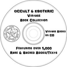 Occult, Esoteric,Spiritualism Books on DVD- Over 1000 Texts/Books on DVD