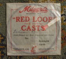 Vintage Milward Cast Packet Red Loop Casts Fishing Angling