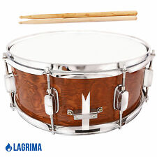 14x5.5 Inch Marching Snare Drum Dark Wood Shell Percussion Poplar